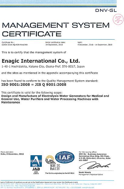 Enagic® Certificates & Awards