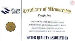 WQA Membership Certificate